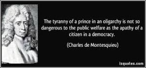 oligarquia-  Montesquieu